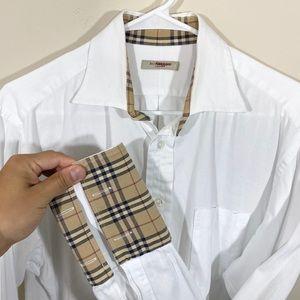 Burberry London Nova Check Contrast Cuff Shirt